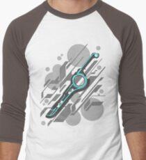 Monado Abstract (Grey) Men's Baseball ¾ T-Shirt
