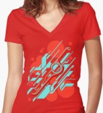 Monado Zusammenfassung Tailliertes T-Shirt mit V-Ausschnitt