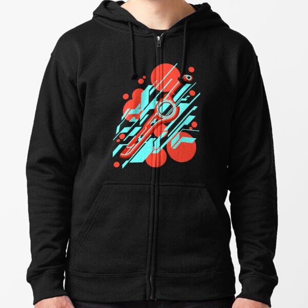 Monado Abstract Zipped Hoodie