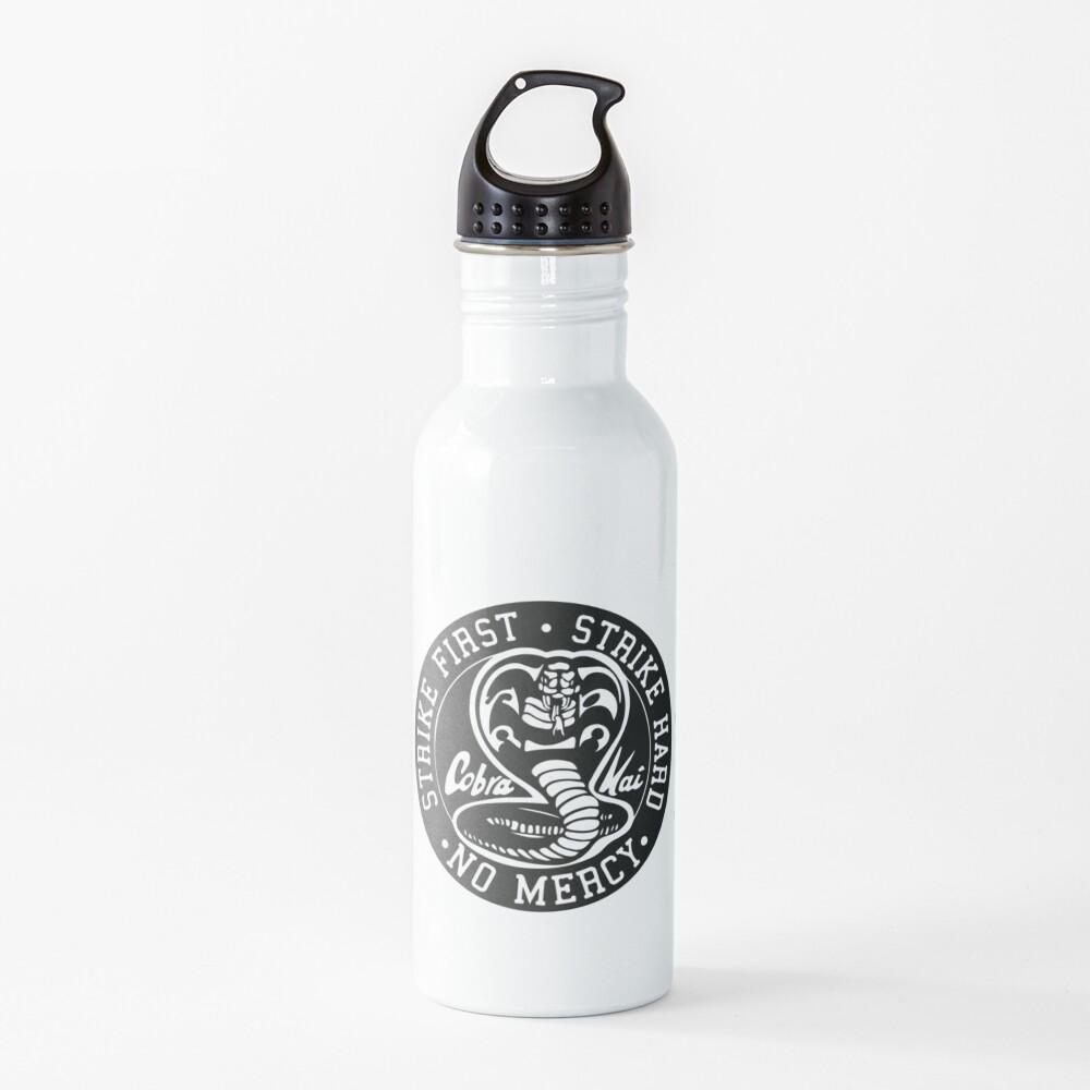 Cobra Kai - Strike First. Strike Hard. No Mercy. Water Bottle