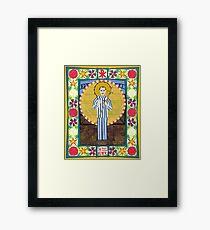 Icon of St. Maximilian Kolbe Framed Print