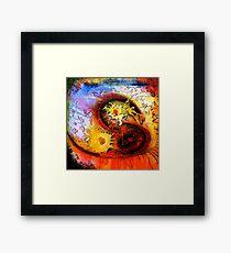 Space Breakfast Framed Print