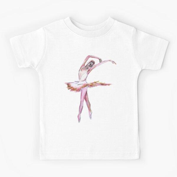 The Ballerina dance art  Kids T-Shirt