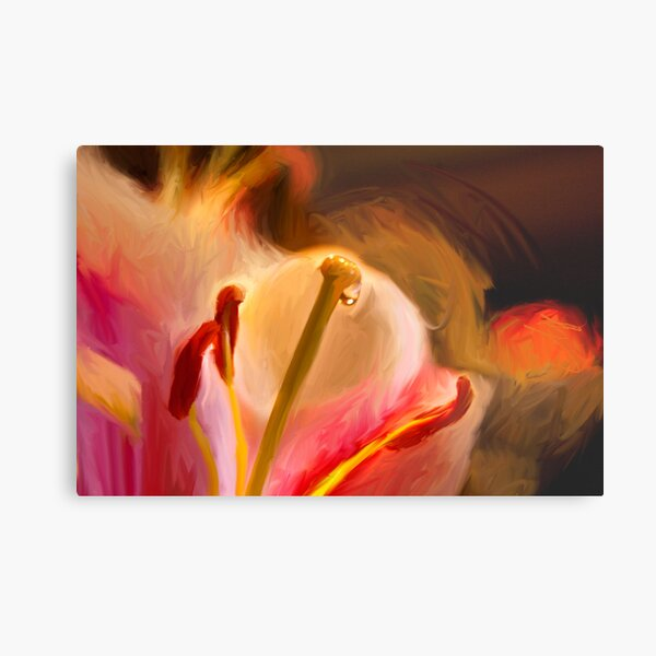Lily Dripping Nectar  Metal Print