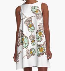 Choanoflagellate Anatomy Print  A-Line Dress
