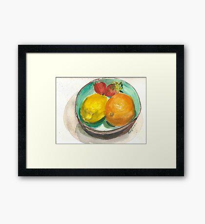 Rita's Turquoise Bowl Framed Print