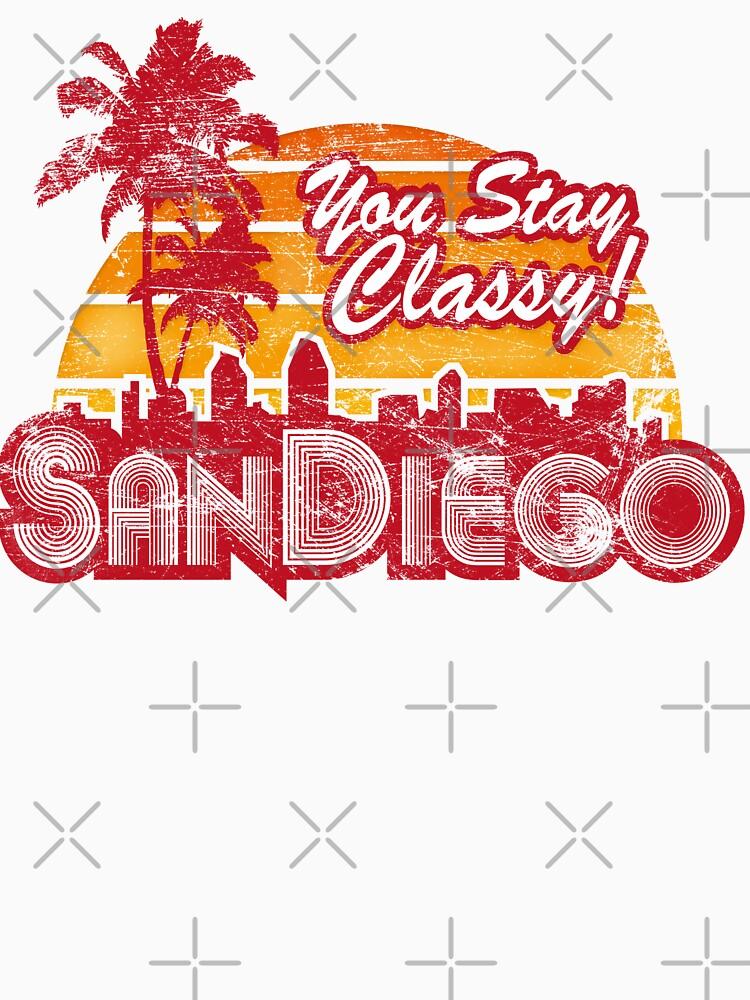 You Stay Classy! San Diego (Worn look) | Unisex T-Shirt