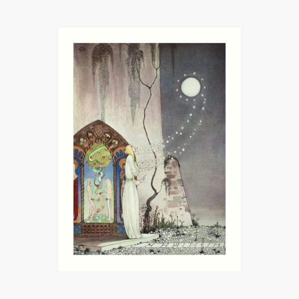 Out Flew the Moon Art Print