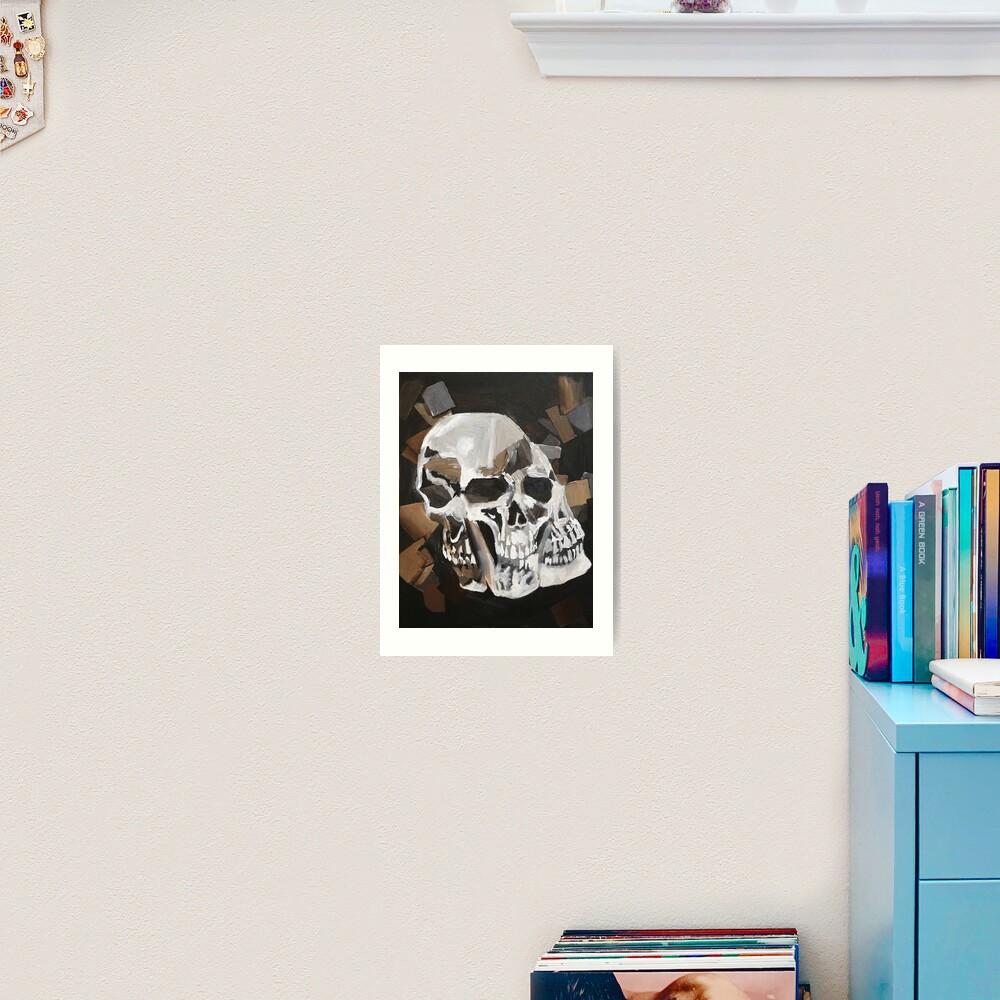 Merging Skulls Art Print