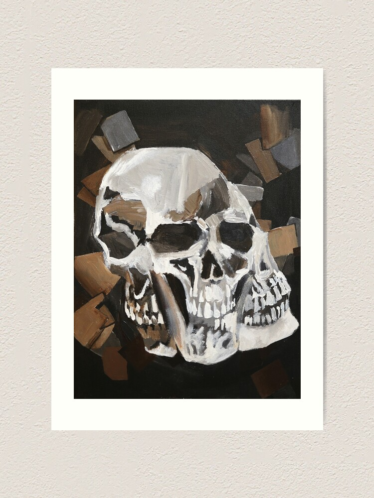 Alternate view of Merging Skulls Art Print