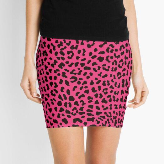 80s Punk Pink Leopard Print Mini Skirt