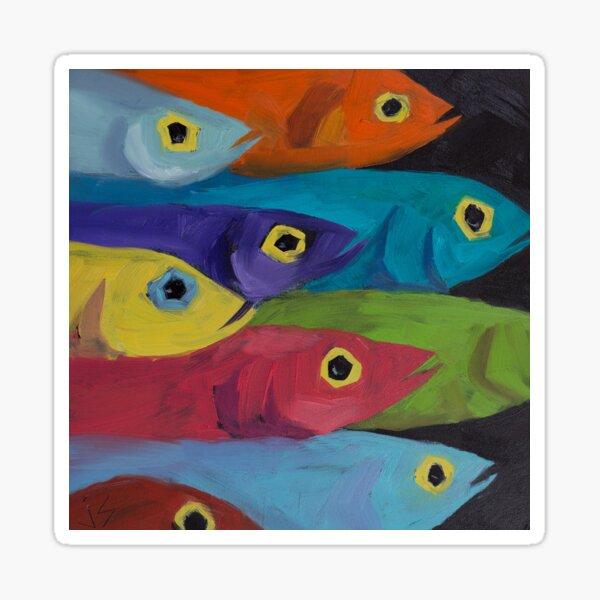 Fish Fiesta!  Sticker