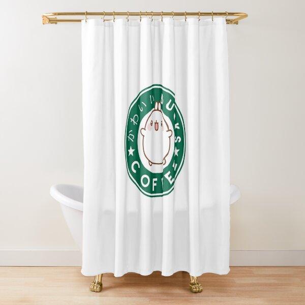 KawaiiBucks Coffee Japanese funny and cute Shower Curtain