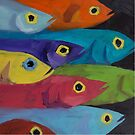 Fish Fiesta!  by JohnnaArt