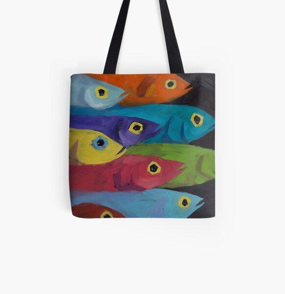 Fish Fiesta!  All Over Print Tote Bag