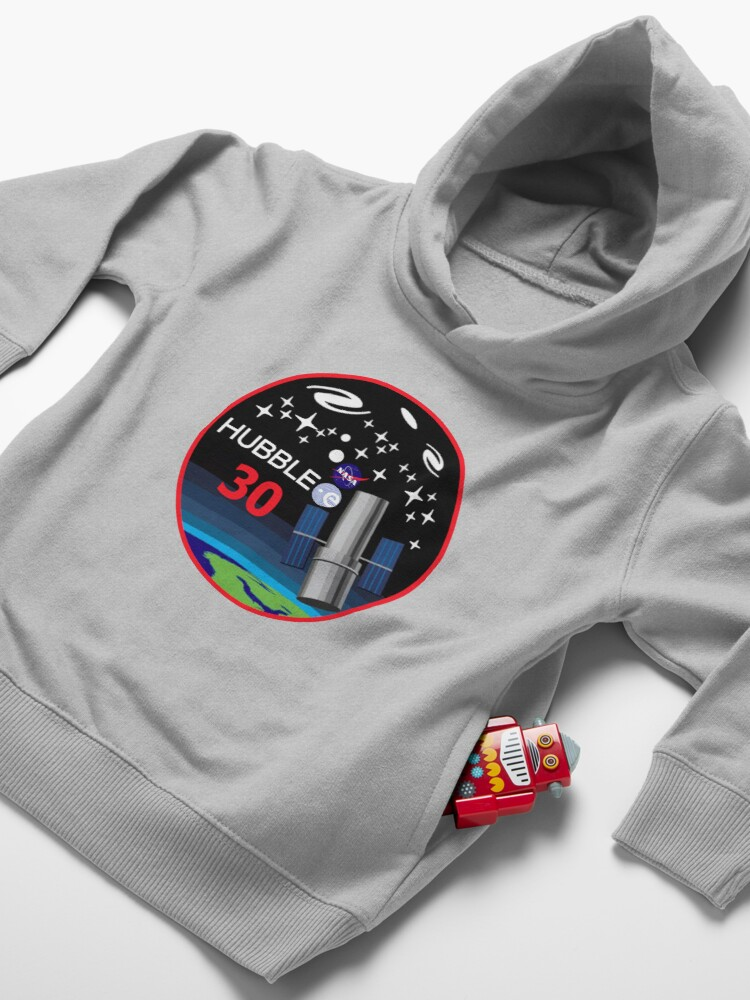Alternate view of Hubble at THIRTY!! Toddler Pullover Hoodie