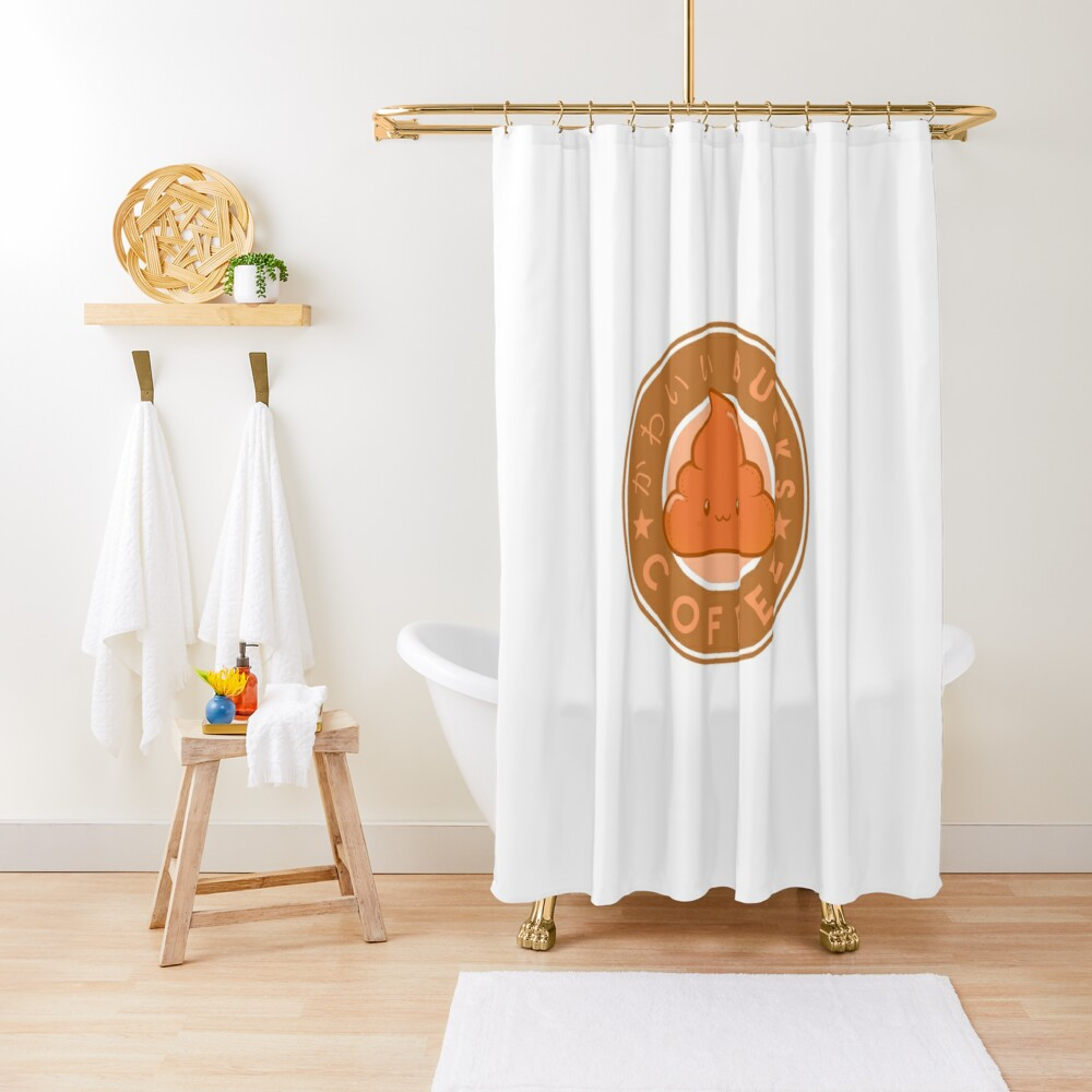 KawaiiBucks Coffee Japanese funny and cute Shower Curtain