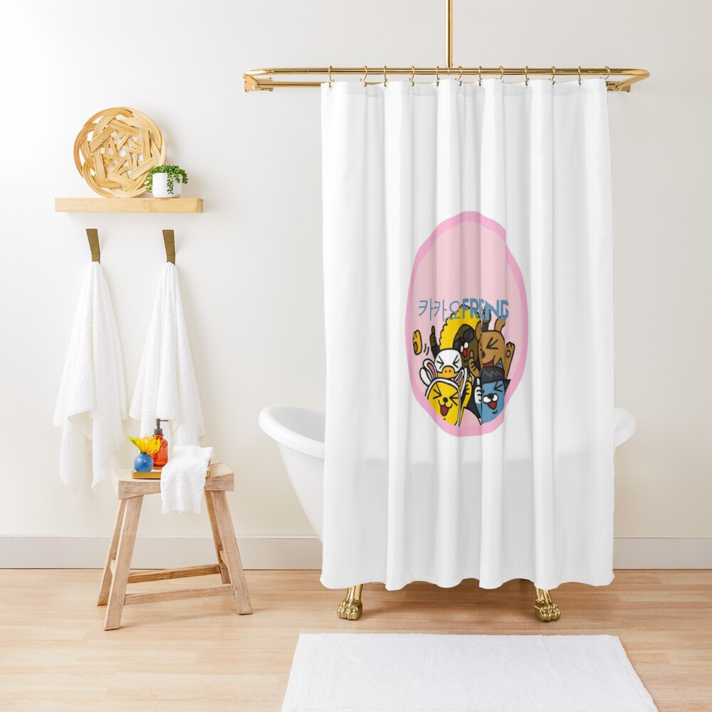 Kakao Friend's Korean style funny and cute Shower Curtain