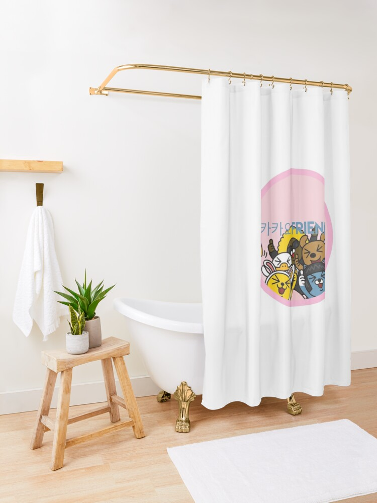 Alternate view of Kakao Friend's Korean style funny and cute Shower Curtain
