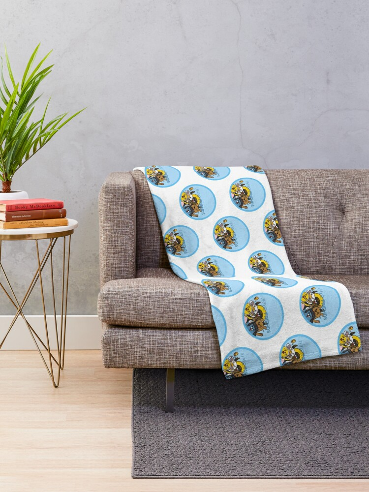 Alternate view of Kakao Friend's Korean style funny and cute Throw Blanket