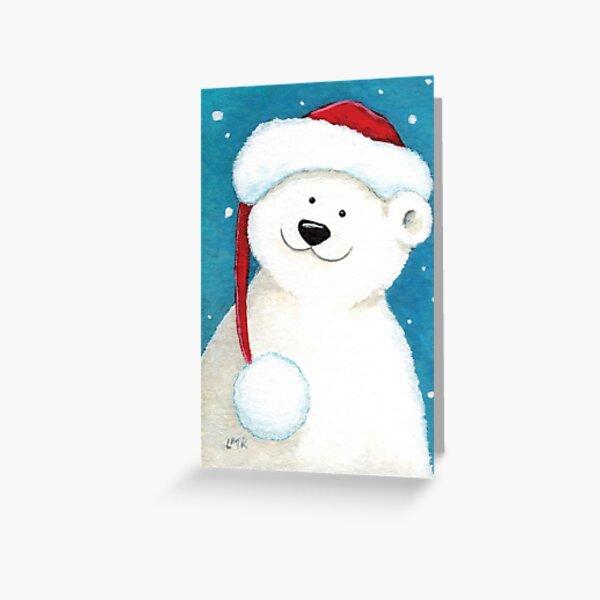 Christmas Polar Bear Greeting Card