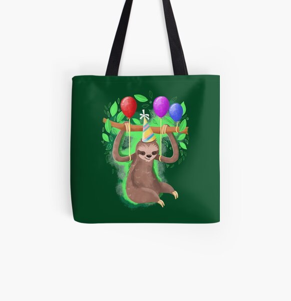 Get ready to party sloth All Over Print Tote Bag