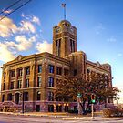 Green Light at the Johnson County Courthouse by Terence Russell