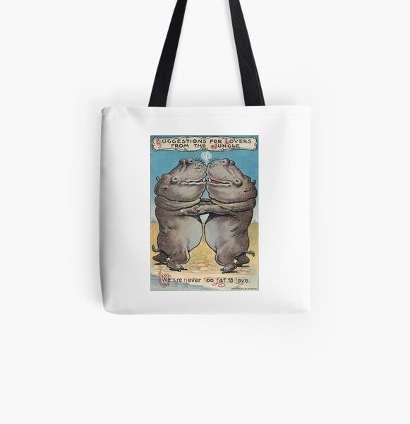 We are NEVER too fat to love! All Over Print Tote Bag