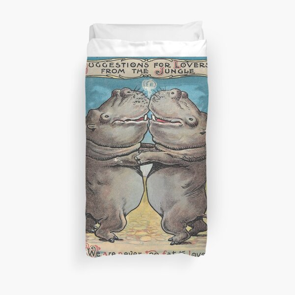We are NEVER too fat to love! Duvet Cover