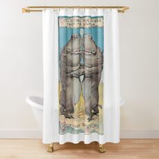 We are NEVER too fat to love! Shower Curtain