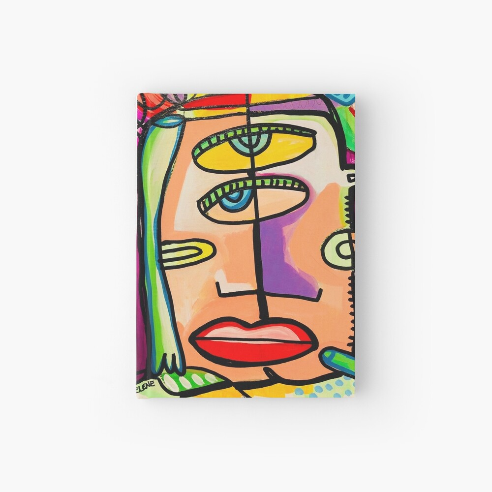 Too Close Abstract Art Painting by Jelene.com Hardcover Journal
