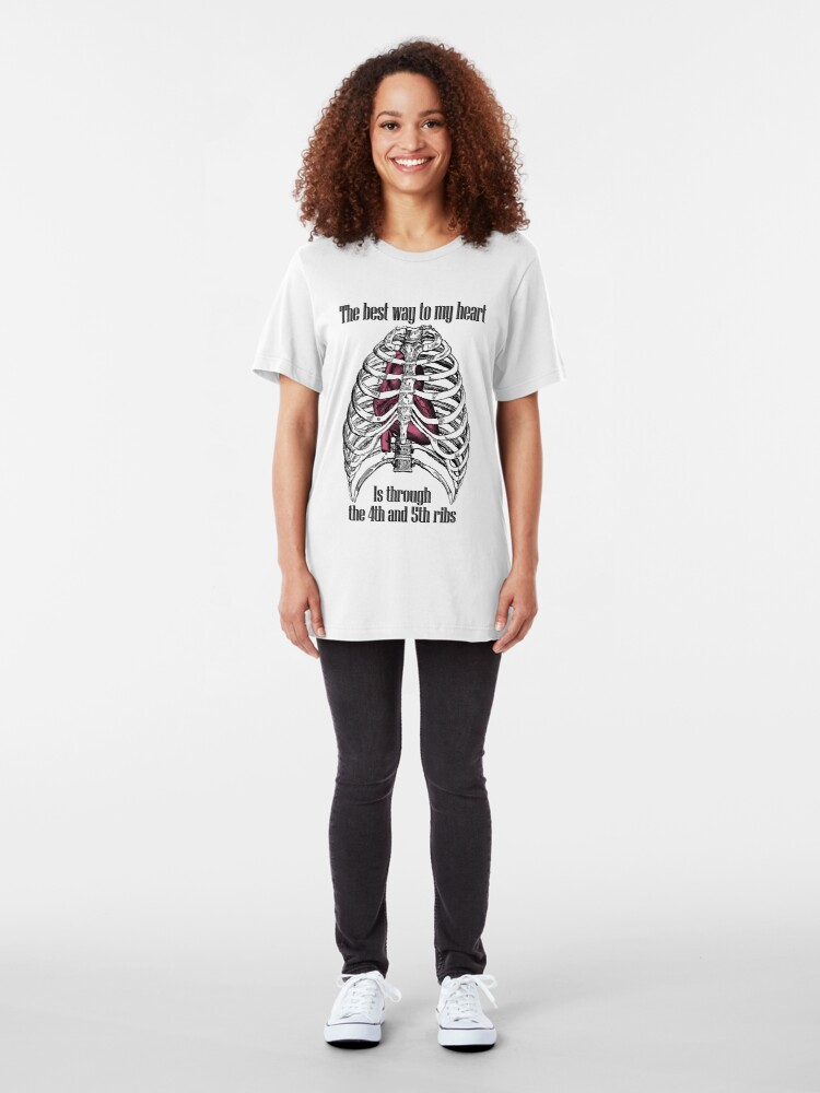 Alternate view of The Best Way to My Heart Slim Fit T-Shirt
