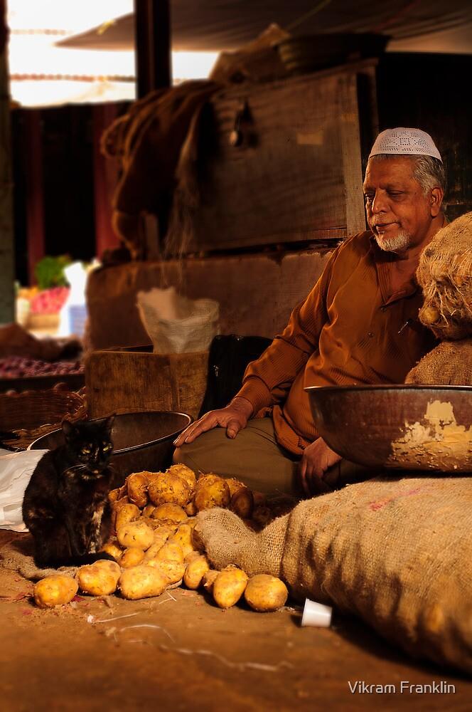 Potato Seller & Cat by Vikram Franklin