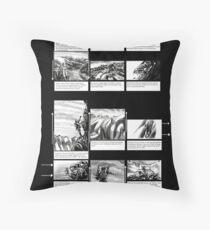 Mountain Odyssey (storyboard) Throw Pillow