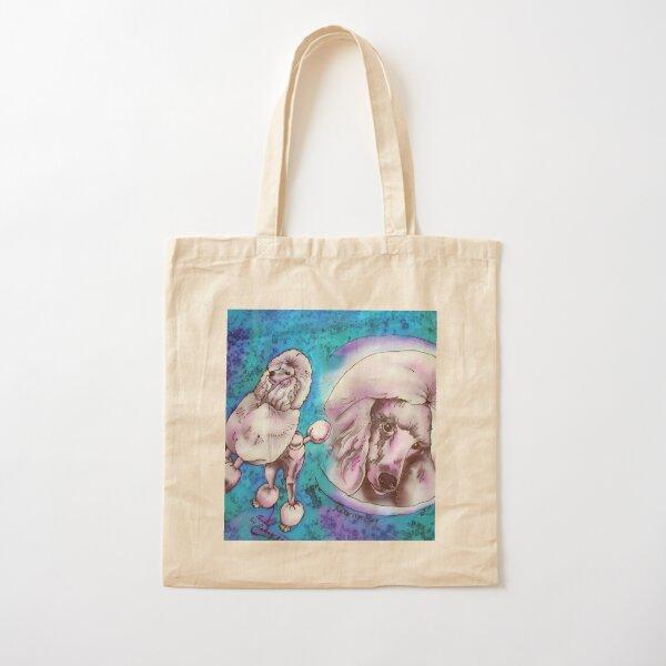 Standard Poodle Cotton Tote Bag