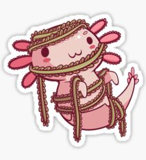 Halloween Axolotl - Mummy! Glossy Sticker
