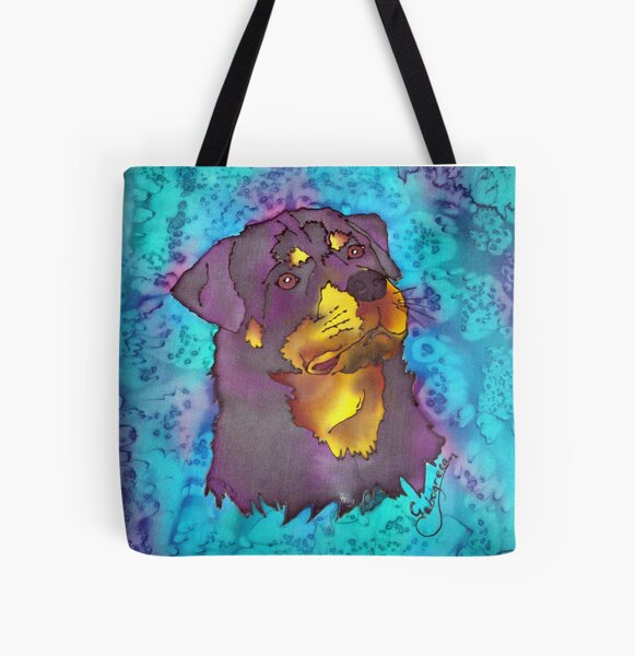 Rottweiler All Over Print Tote Bag