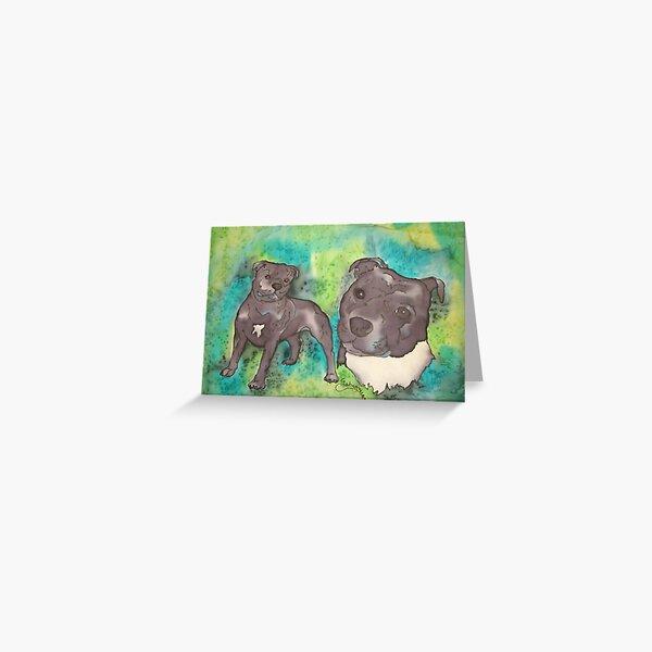 Staffordshire Bull Terrior Greeting Card