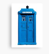 Traditional UK Police Box Canvas Print