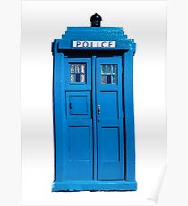 Traditional UK Police Box Poster