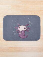 Halloween Axolotl - Skeleton! Bath Mat