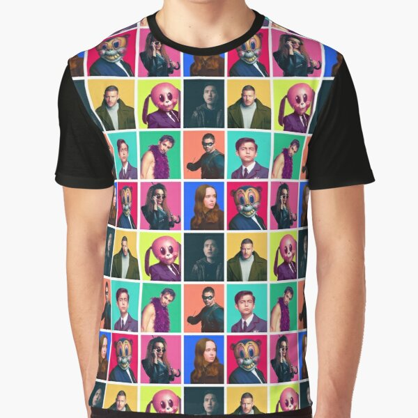 The Umbrella Academy - Character Collage Graphic T-Shirt