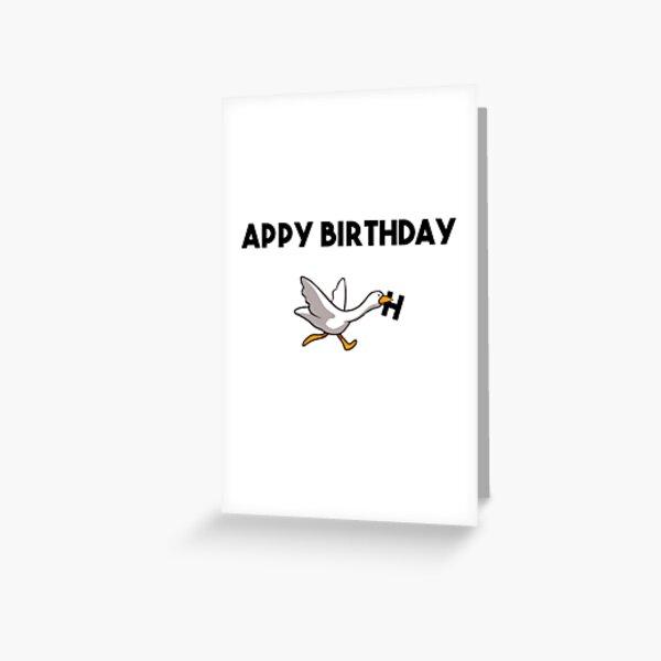 Happy Birthday Goose Greeting Card