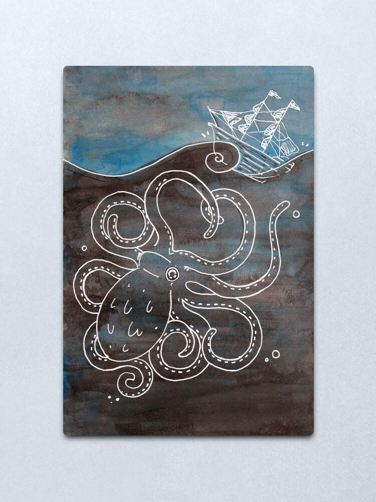 Alternate view of Kraken Metal Print
