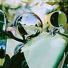 """""""Vintage Reflections"""" - oil painting of a vintage car by James  Knowles"""