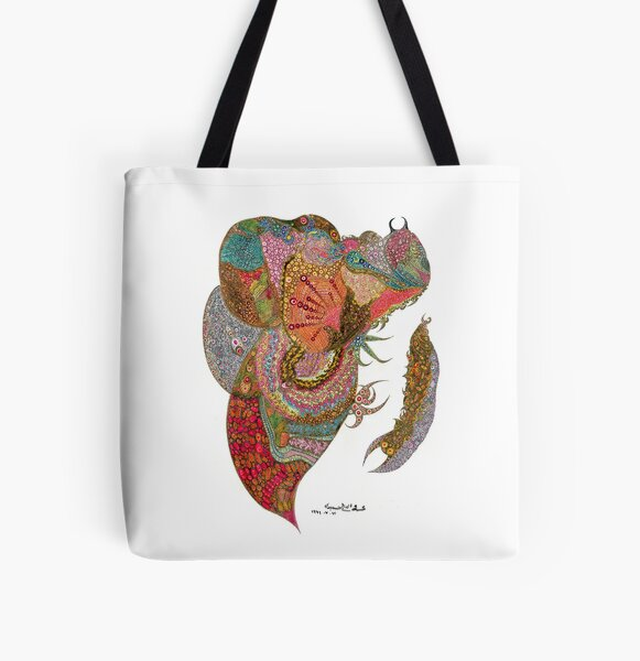 Insect Hunting All Over Print Tote Bag