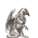Sketch -- Mythological House Griffin: Crow Variety by Stephanie Smith