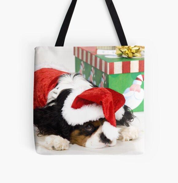 Cavalier King Charles Spaniel Christmas All Over Print Tote Bag