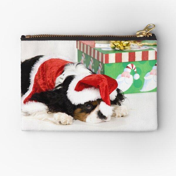 Cavalier King Charles Spaniel Christmas Zipper Pouch
