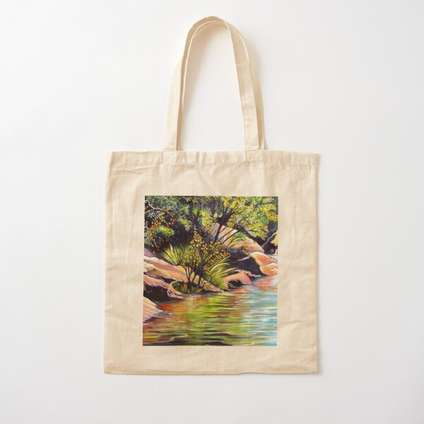 Jellybean Pool, Blue Mountains Cotton Tote Bag